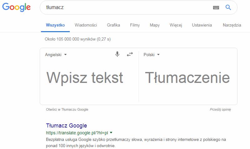 Jak używać tłumacza Google? (1)